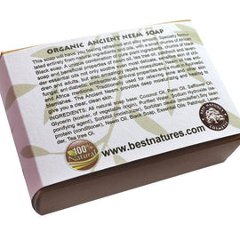 Organic Ancient Neem Soap.  All Natural SLS Free 120g