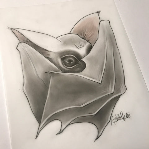 """Little Bat"" Original Drawing"