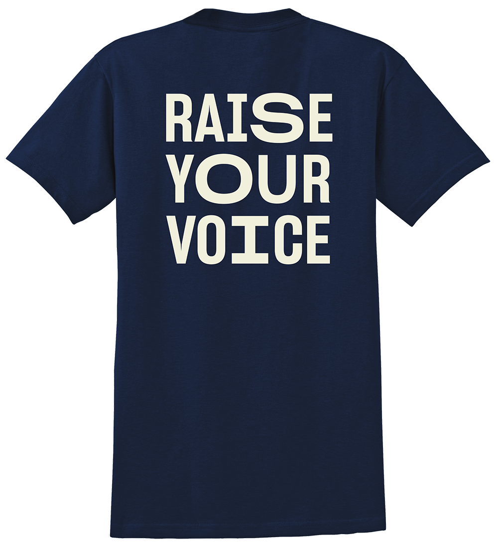 Raise your voice t-shirt