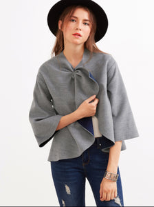 Grey Sleeve Double Face Coat