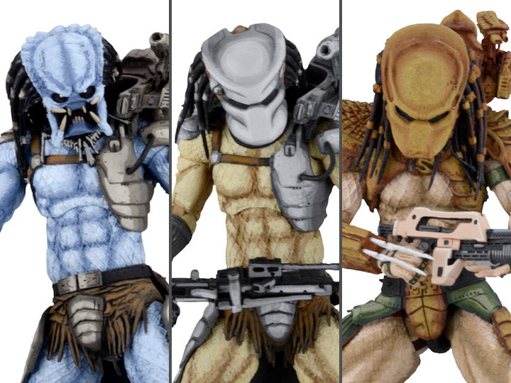 Alien vs. Predator Arcade Appearance Predator Set of 3 Figures