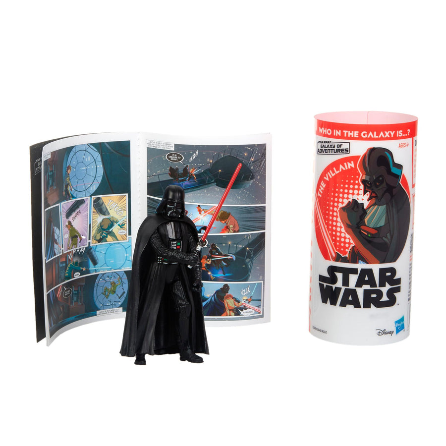 Star Wars Galaxy Of Adventures Darth Vader Figure And Mini Comic Wave 1