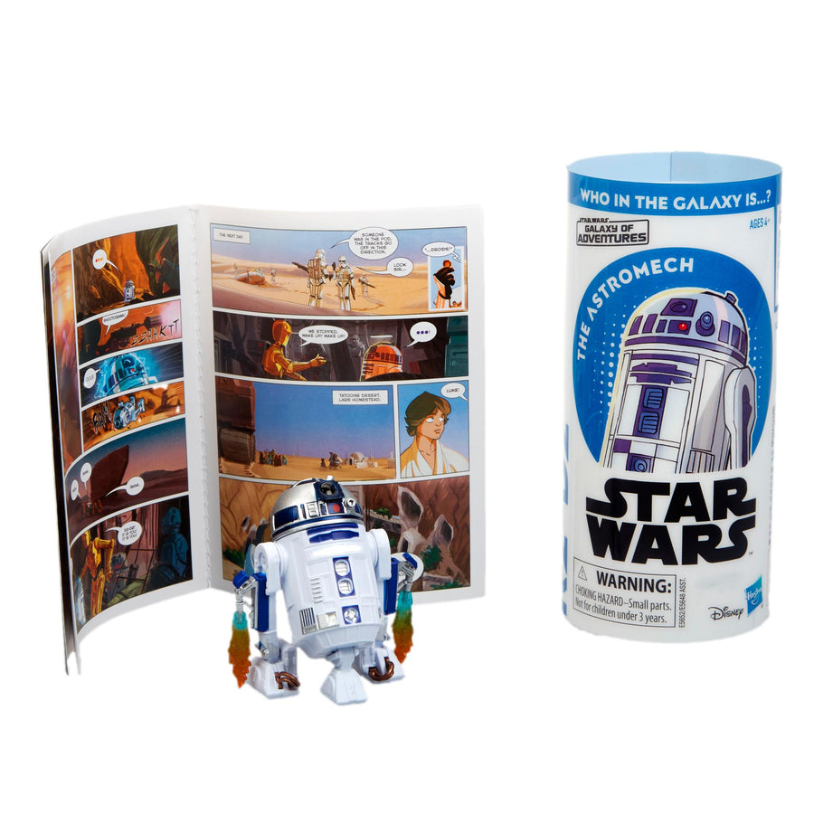 Star Wars Galaxy Of Adventures R2-D2 Figure And Mini Comic Wave 1