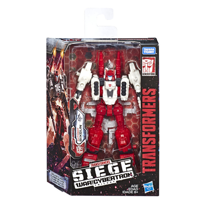 Transformers Generations War for Cybertron Siege Deluxe Sixgun Wave 2