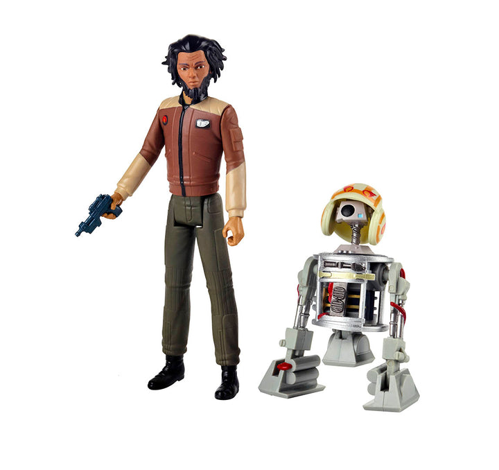 Star Wars Resistance 3.75 Double Pack Jarek Yeager & Bucket