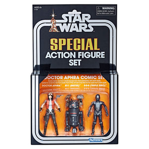 The Vintage Collection Special Action Figure Set three-pack including Doctor Aphra Comic Set SDCC Exclusive USA