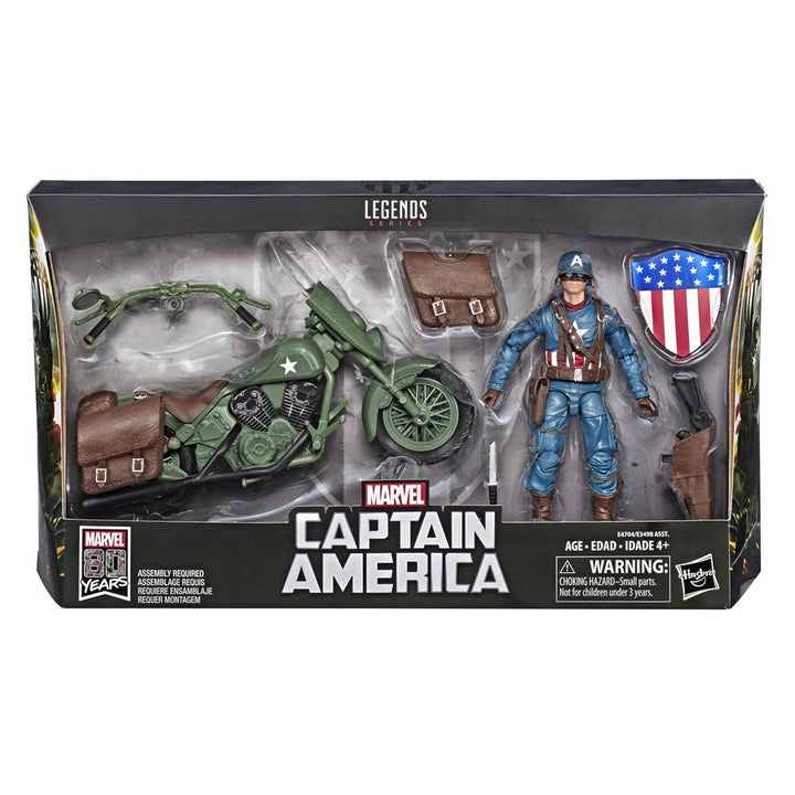 Marvel Legends Deluxe Captain America with Motorcycle
