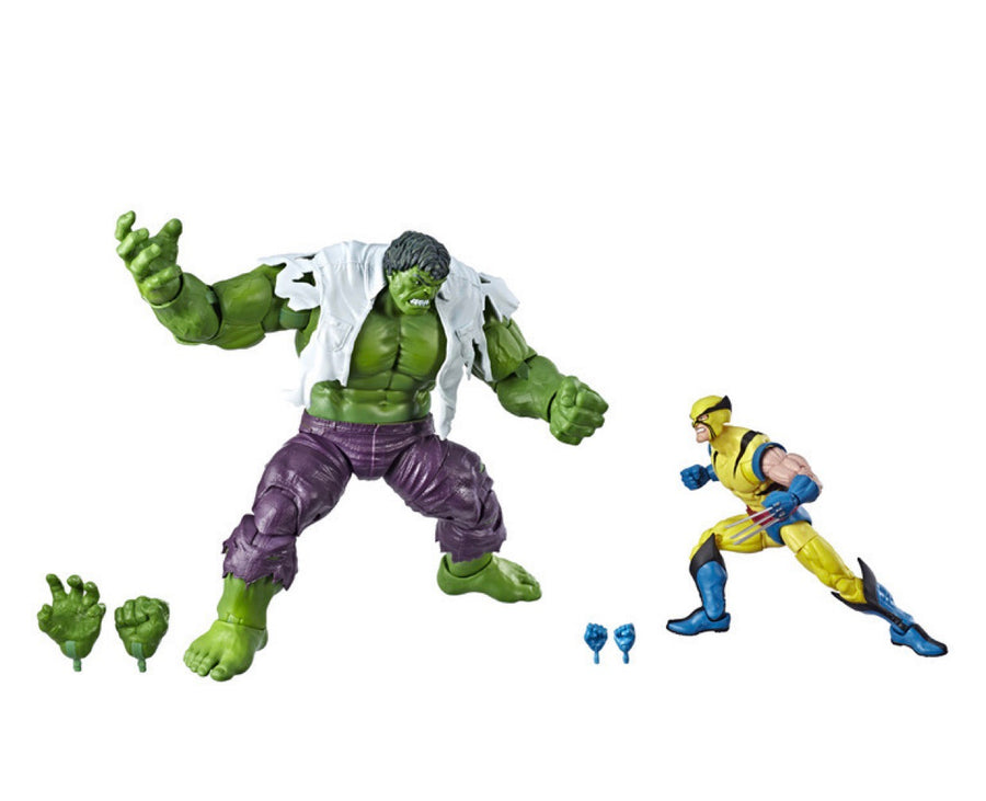 Marvel Legends 80th Anniversary Hulk Vs. Wolverine Action Figure 2-Pack