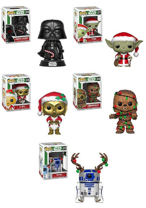 Star Wars POP! Vinyl Bobble-Head Figures Holiday Set of 5