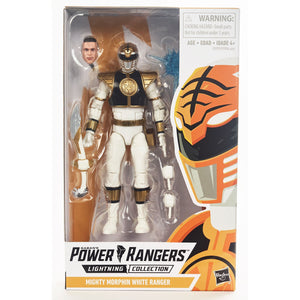 Power Rangers Lightning Collection Mighty Morphin White Ranger Figure