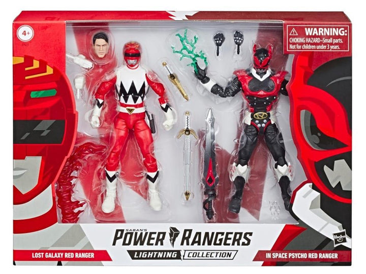 Power Rangers Lightning Collection In Space Psycho Red Ranger and Lost Galaxy Red Ranger