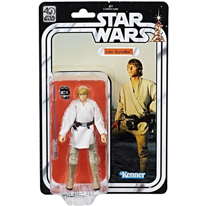 Star Wars 40th Anniversary Black Series 6 Inch Action Figure Luke Skywalker