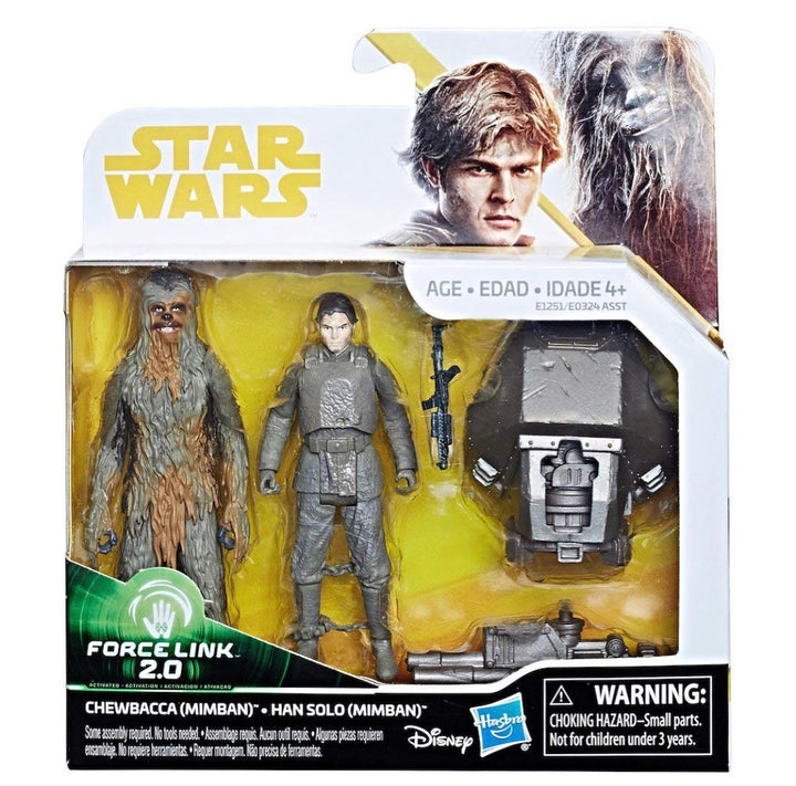 PRE-ORDER Solo: A Star Wars Story Double Pack Han Solo & Chewbacca On Mimban Force Link 2.0 Wave 2