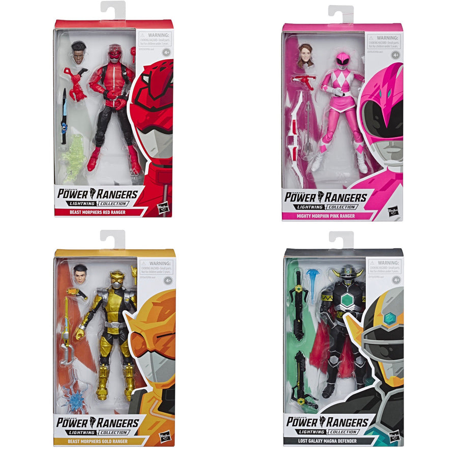 Power Rangers Lightning Collection Wave 2 Beast Morphers Set of 4