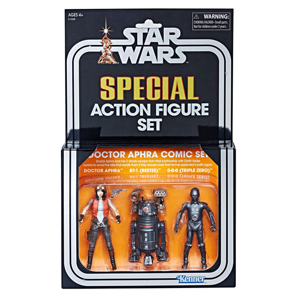 PRE-ORDER The Vintage Collection Special Action Figure Set three-pack including Doctor Aphra Comic Set SDCC Exclusive