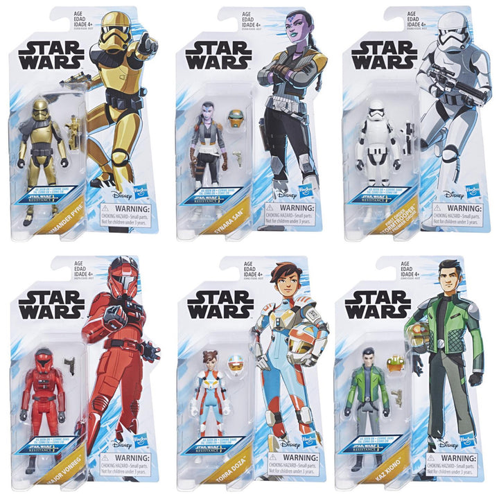 Star Wars Resistance 3.75 Inch Action Figure Wave 1 Set of 6