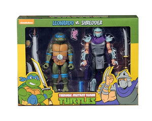 TMNT CARTOON LEONARDO VS SHREDDER 2 Pack