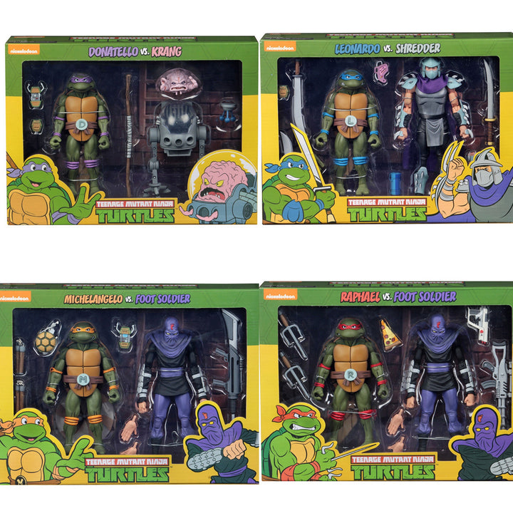 TMNT CARTOON 2 Pack Complete Collection (SET OF 4)