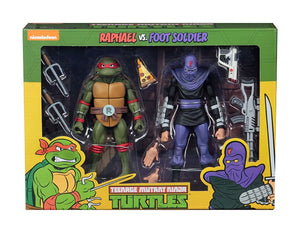 TMNT CARTOON RAPHAEL VS FOOT SOLIDER 2 Pack