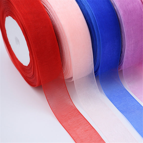 45m 25mm Organza Ribbon
