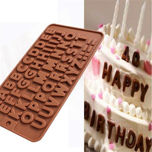 26 Letter Silicone Chocolate Cake Mold