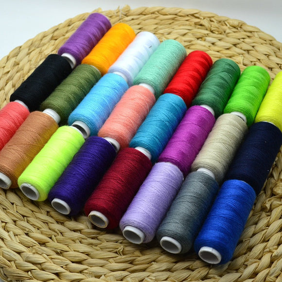24 Mixed Colors All Purpose Polyester Sewing Thread Cones