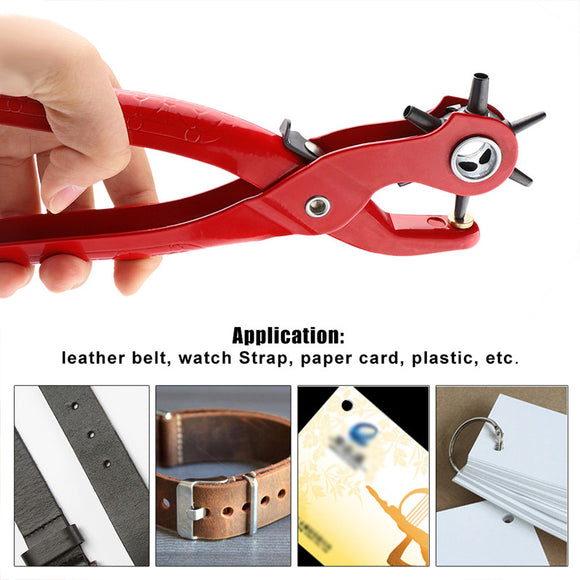 5 Size Multi-function Leather Hole Punch