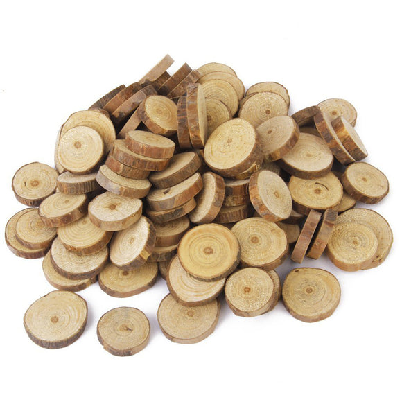 100 Pc 1.5-3cm Wood Log Slices
