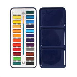24 Watercolor Paint Set with Brush