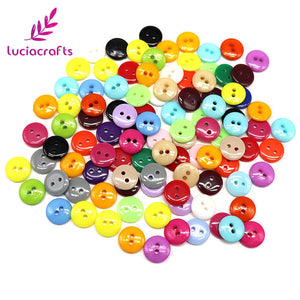 50 Pc 6/11/12/15mm Mixed Resin Buttons