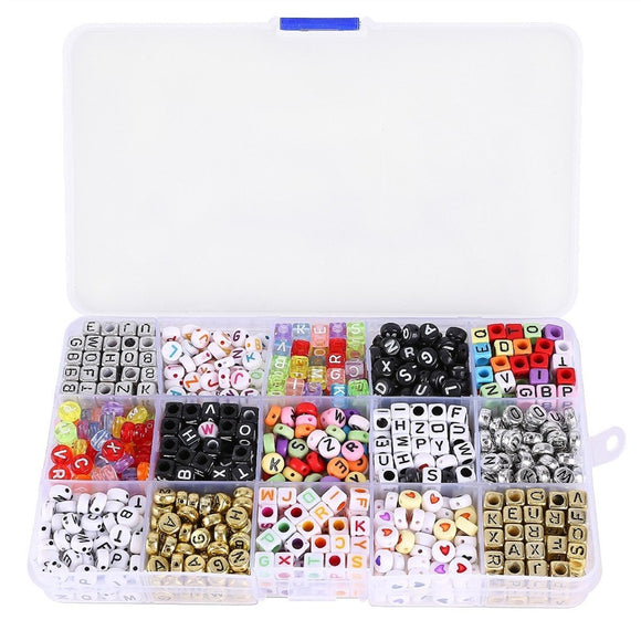 1100 Pc Mixed Acrylic Alphabet Beads