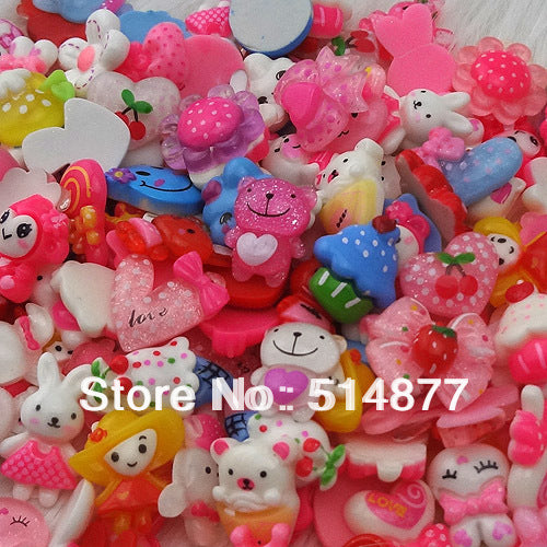 50 Pc Flat Back Resin Buttons