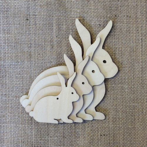 Wooden Bunny Rabbits