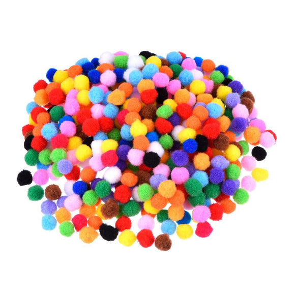 1200 Pc 10mm Assorted Pom Poms