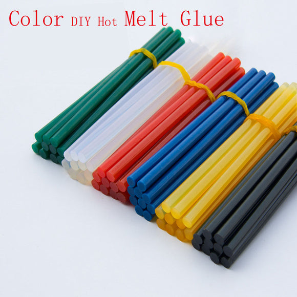 10pcs solid color 7x150mm hot melt glue