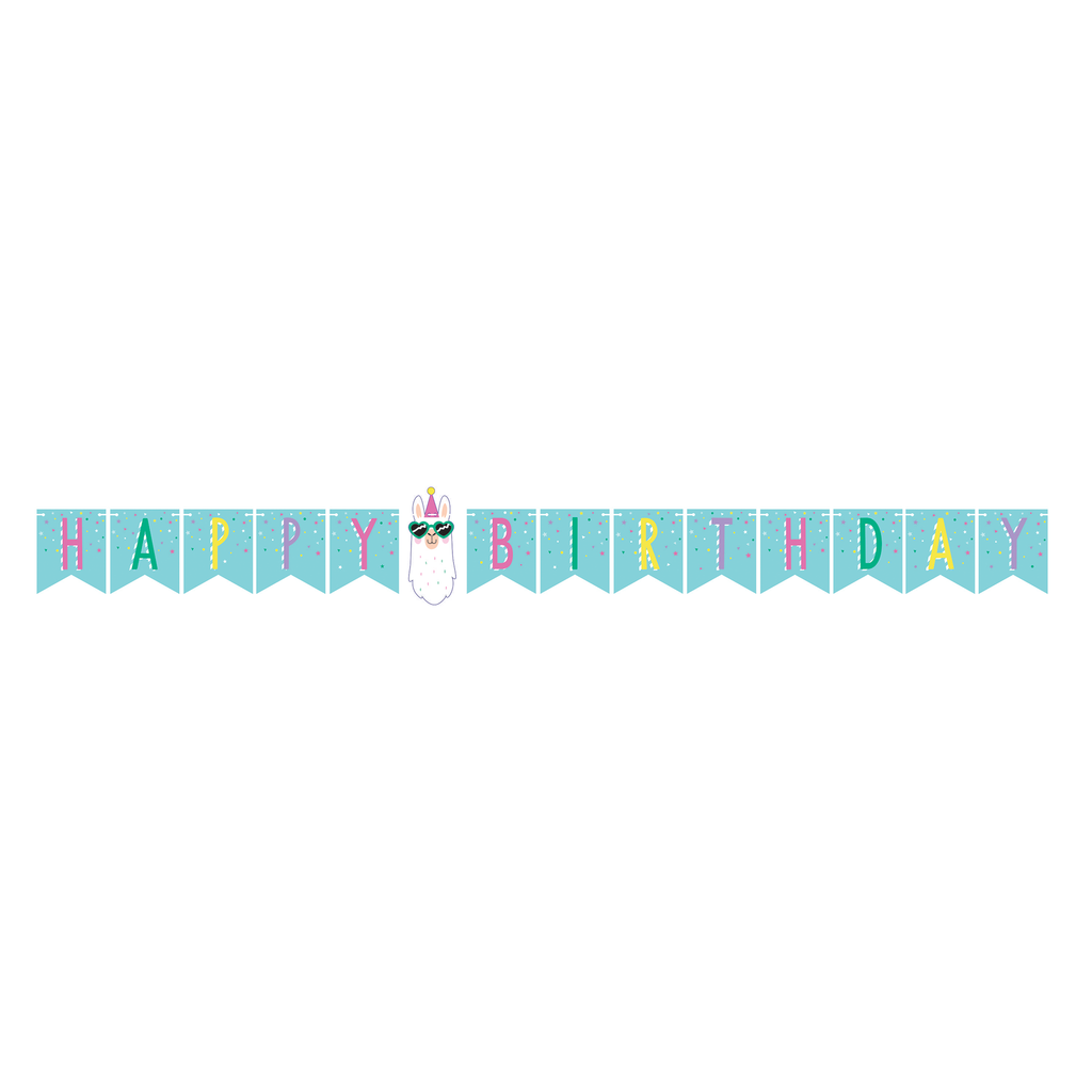 Llama Party Banner - 1 Pack - cavepop