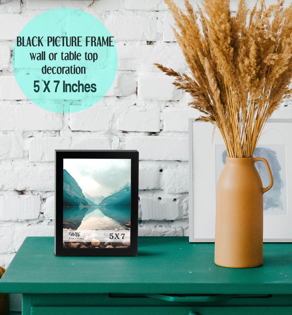 "Cavepop 5x7"" Black Wood Picture Frame - cavepop"