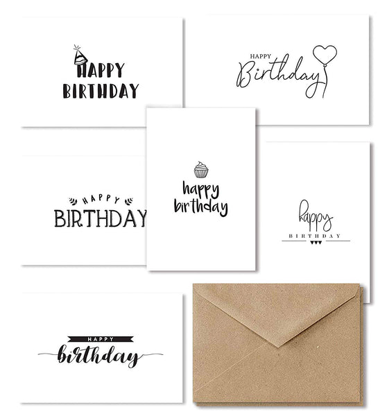 Cavepop Happy Birthday Cards - 36 Assortment Set - cavepop