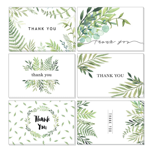 Foliage Thank You Cards - 36 Pack Assortment - cavepop