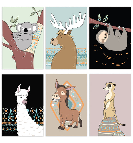 Cavepop Animal Greeting Cards - 6 Pack Assortment - cavepop