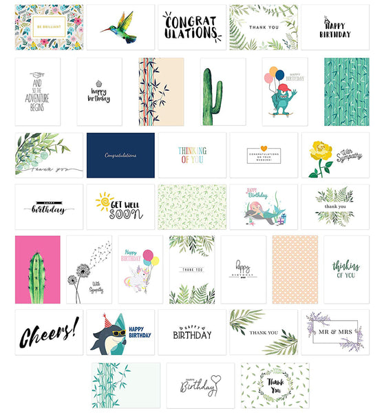Cavepop All Occasion Greeting Cards - 36 Pack Assortment - cavepop