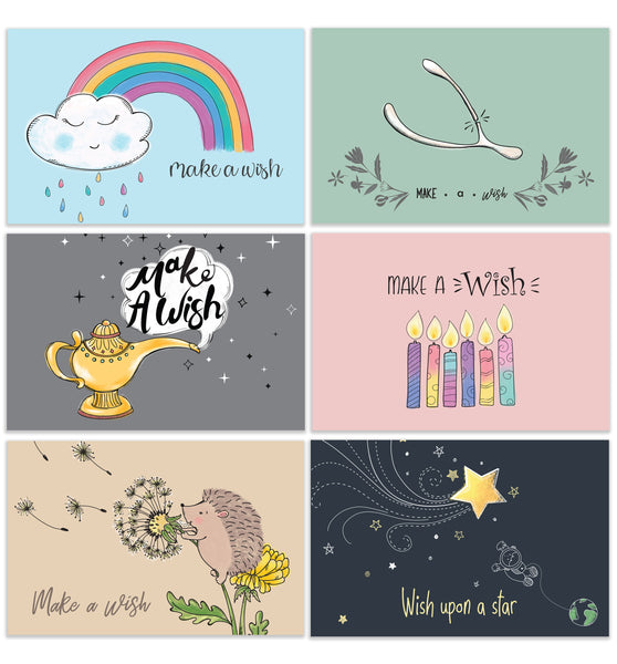 Cavepop All Occasion Make A Wish Greeting Cards - 6 Pack Assortment - cavepop