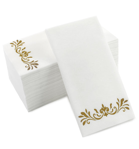 Gold Hand Towels (Disposable) - 100 pack - cavepop