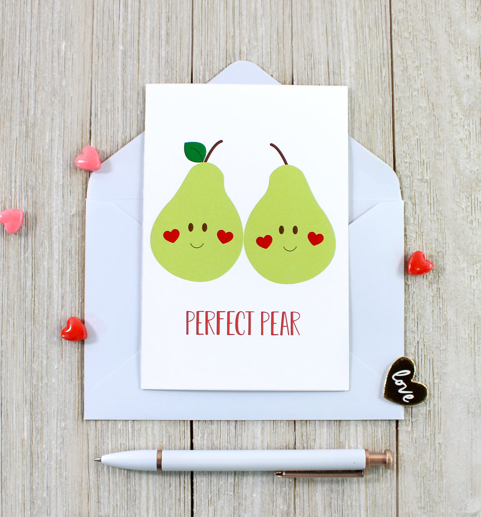 "Cavepop ""Perfect Pear"" Greeting Card - cavepop"