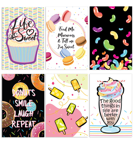 Cavepop All Occasion Sweet Life Greeting Cards - 6 Pack Assortment - cavepop