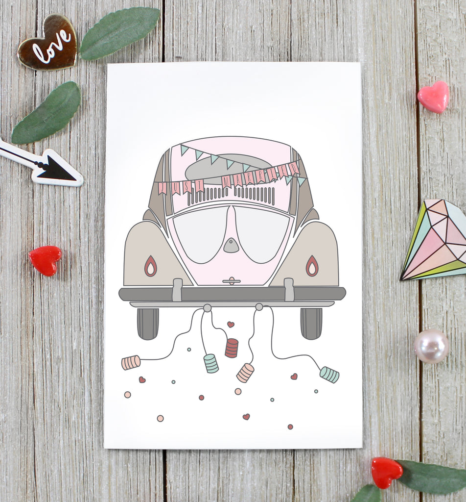 Cavepop Just Married Greeting Card - cavepop