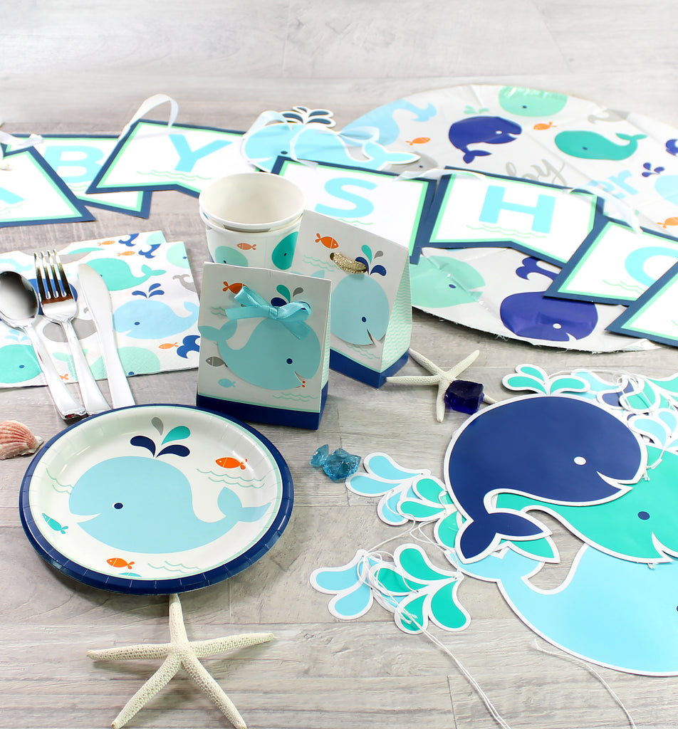 Blue Baby Whale Ribbon Banner - 1 Pack - cavepop