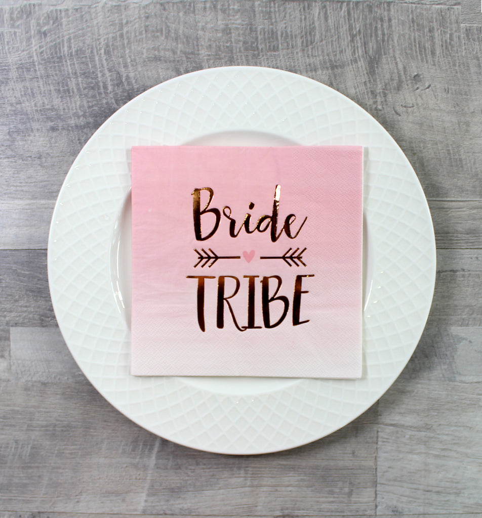 Bride Tribe Bridal Shower Napkins - 16 Pack - cavepop