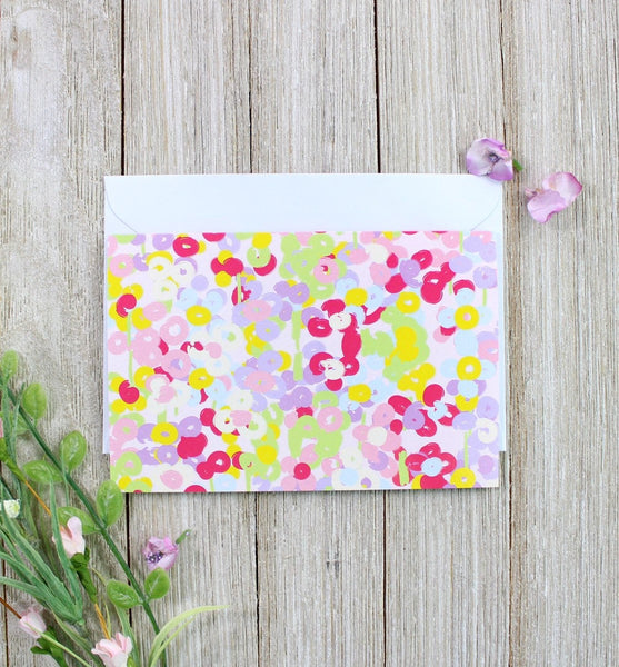 Abstract Floral Greeting Card - cavepop