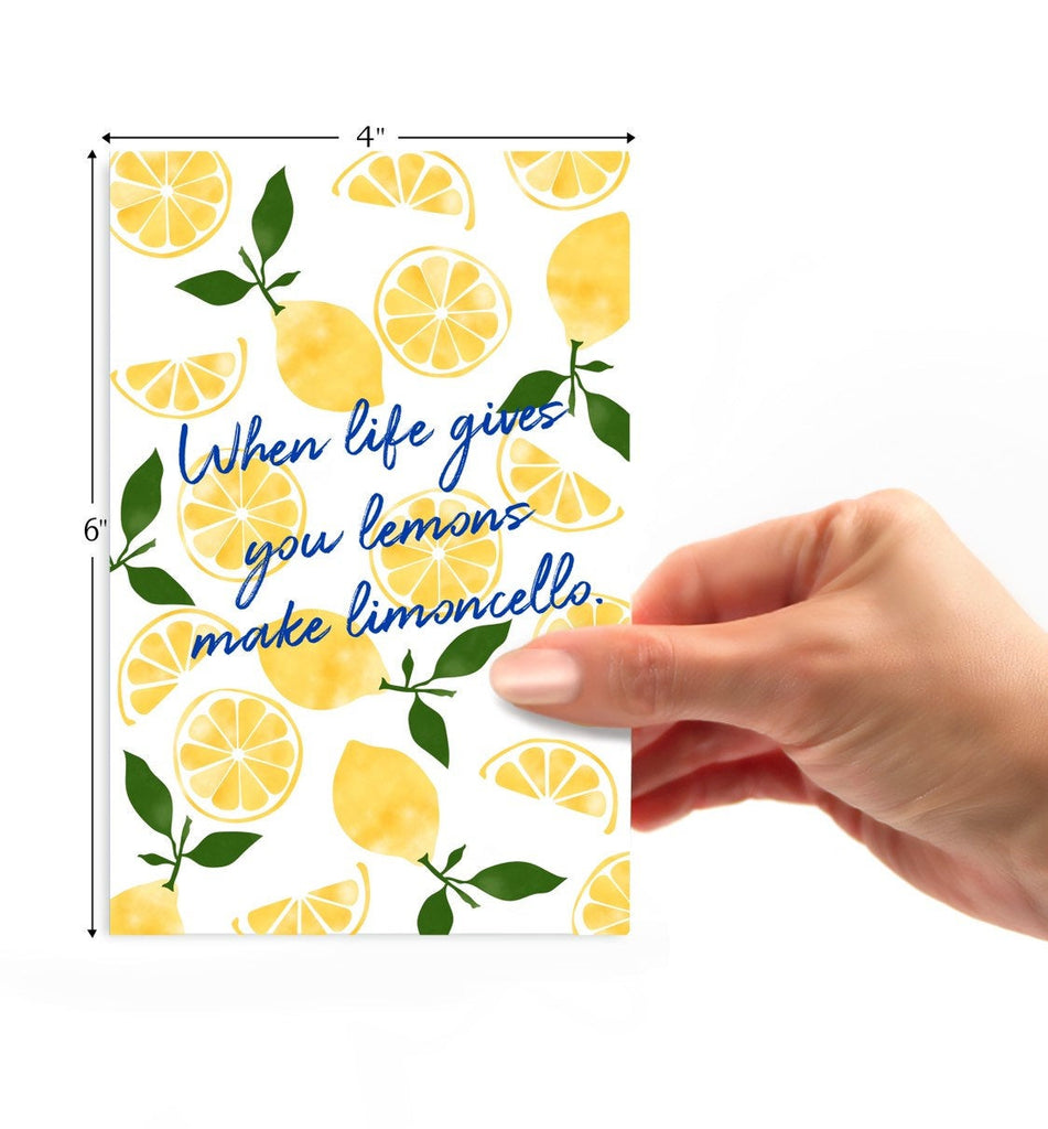 Lemon Limoncello Greeting Card - cavepop